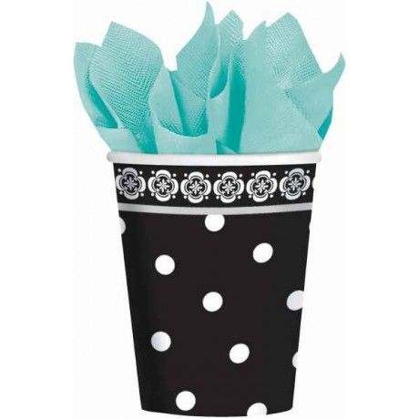 Damask & Dots 9oz Paper Cups | 18ct for $6.10 in Tableware - Bridal Shower - Wedding