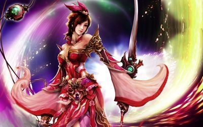 fantasy art women warriors Asian