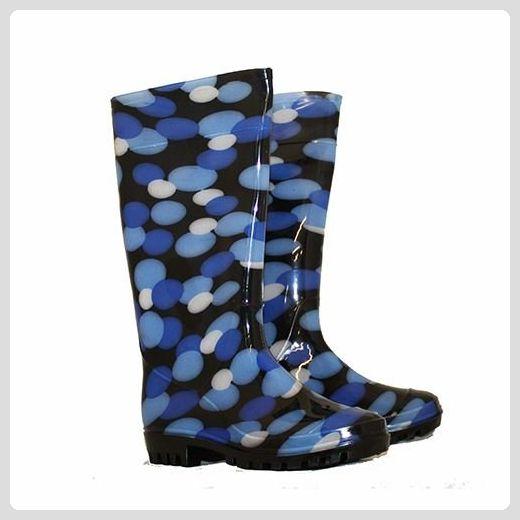 Damen-Gummistiefel - Viele Farben - blase blau, EU 37 - Stiefel für frauen (*Partner-Link)