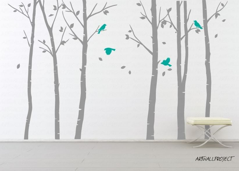"""Mirror with Birds and Branches 