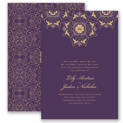 Zen zing plum invitation invitations by davids bridal zen zing plum invitation invitations by davids bridal stopboris Image collections