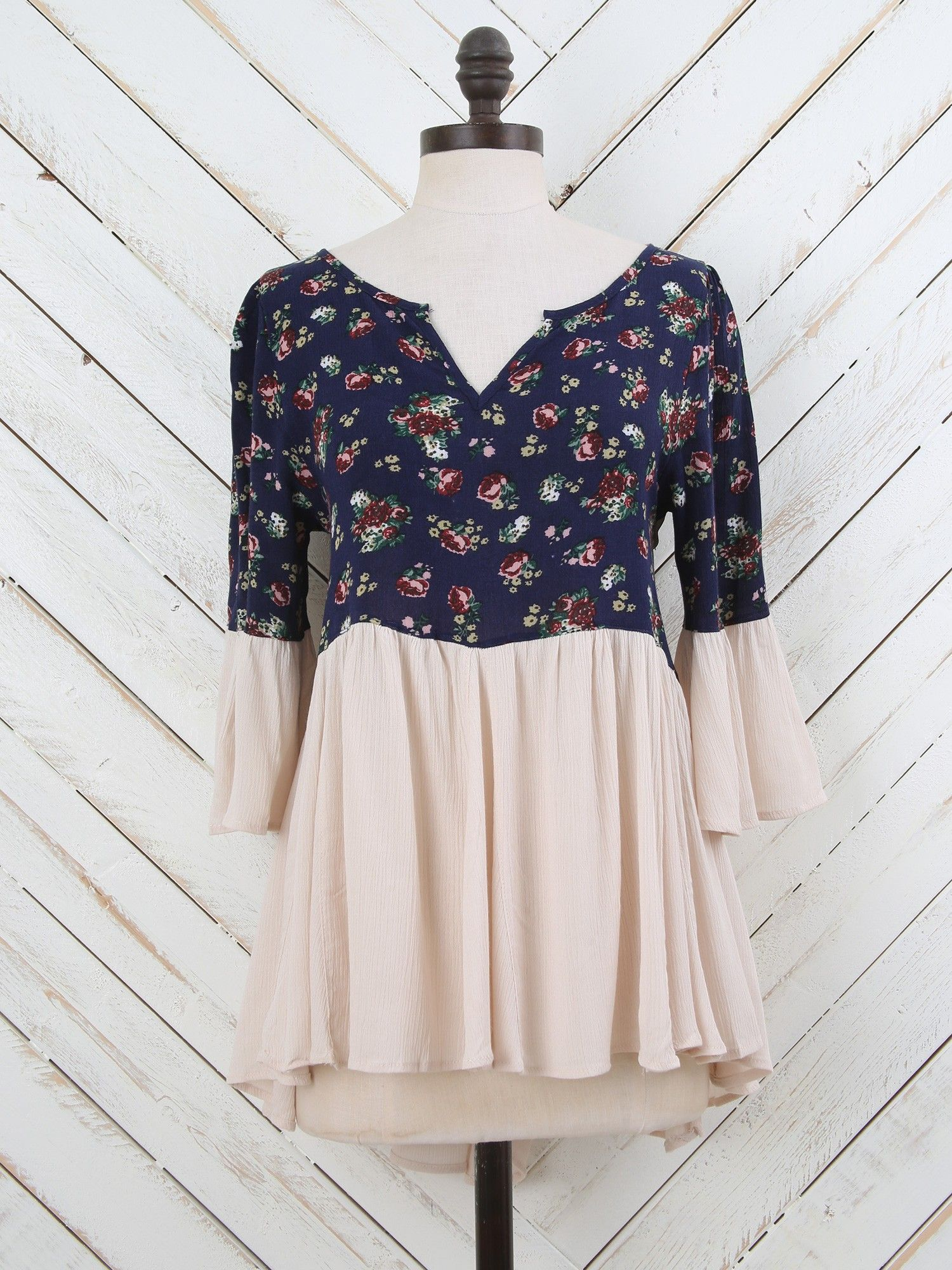 """Altar'd State Pretty Peasant Top - Romantic - Shop by """"State"""" of Mind"""