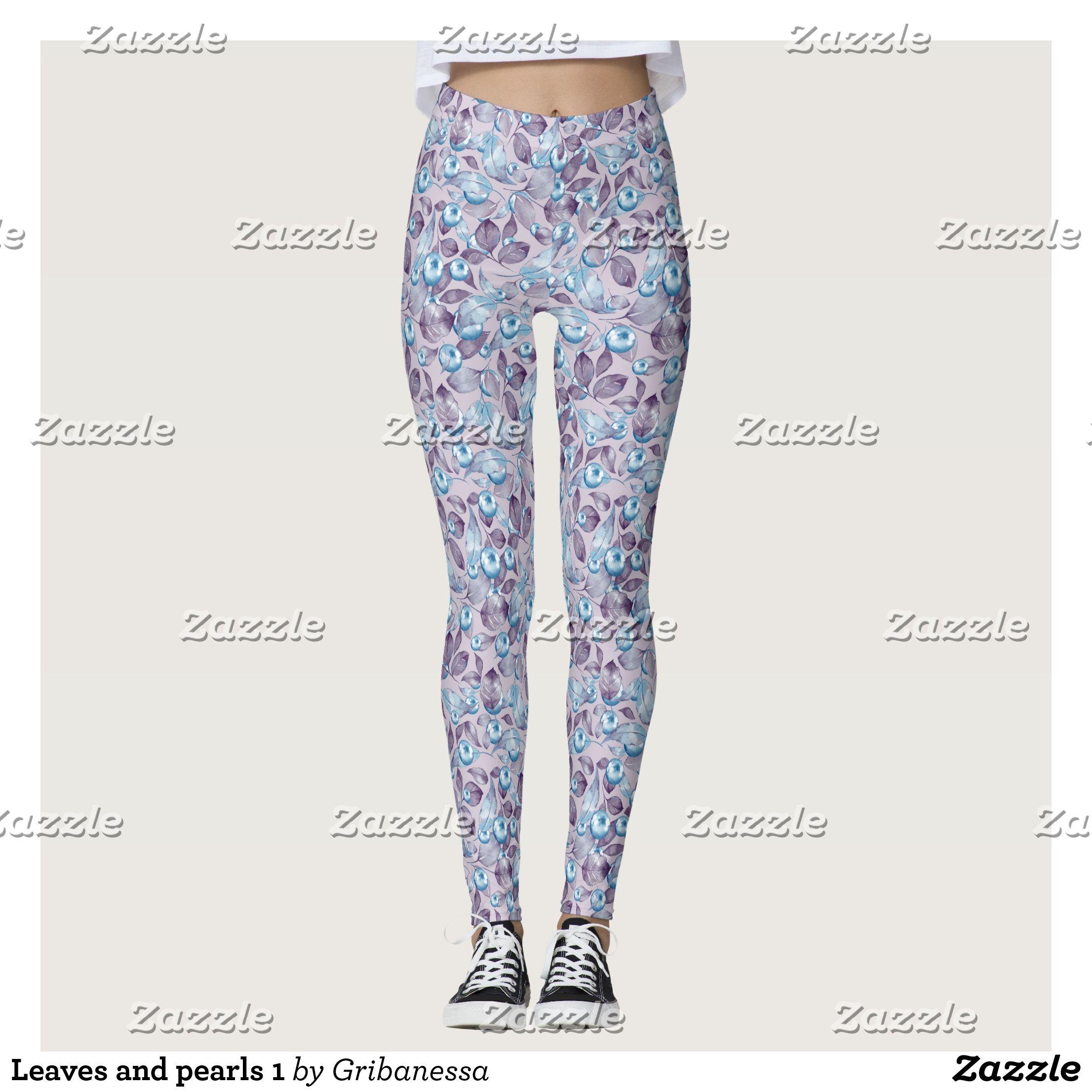Leaves and pearls 1 leggings Beautiful Yoga Pants