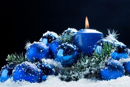 Light Blue Ball Candles