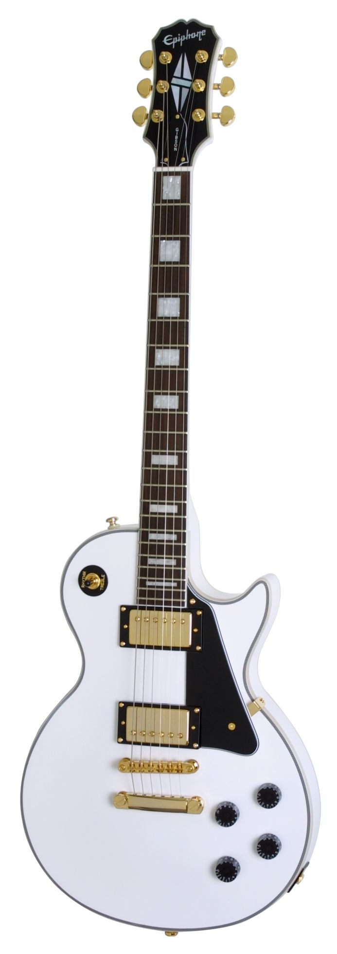 Epiphone Les Paul Custom Electric Guitar, Alpine White