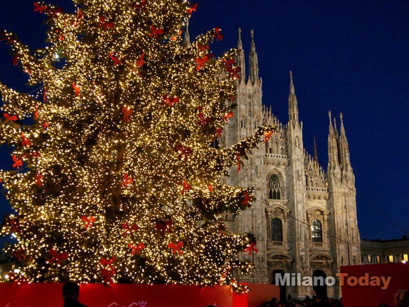 L'albero di natale in piazza Duomo / Christmas tree in Milan