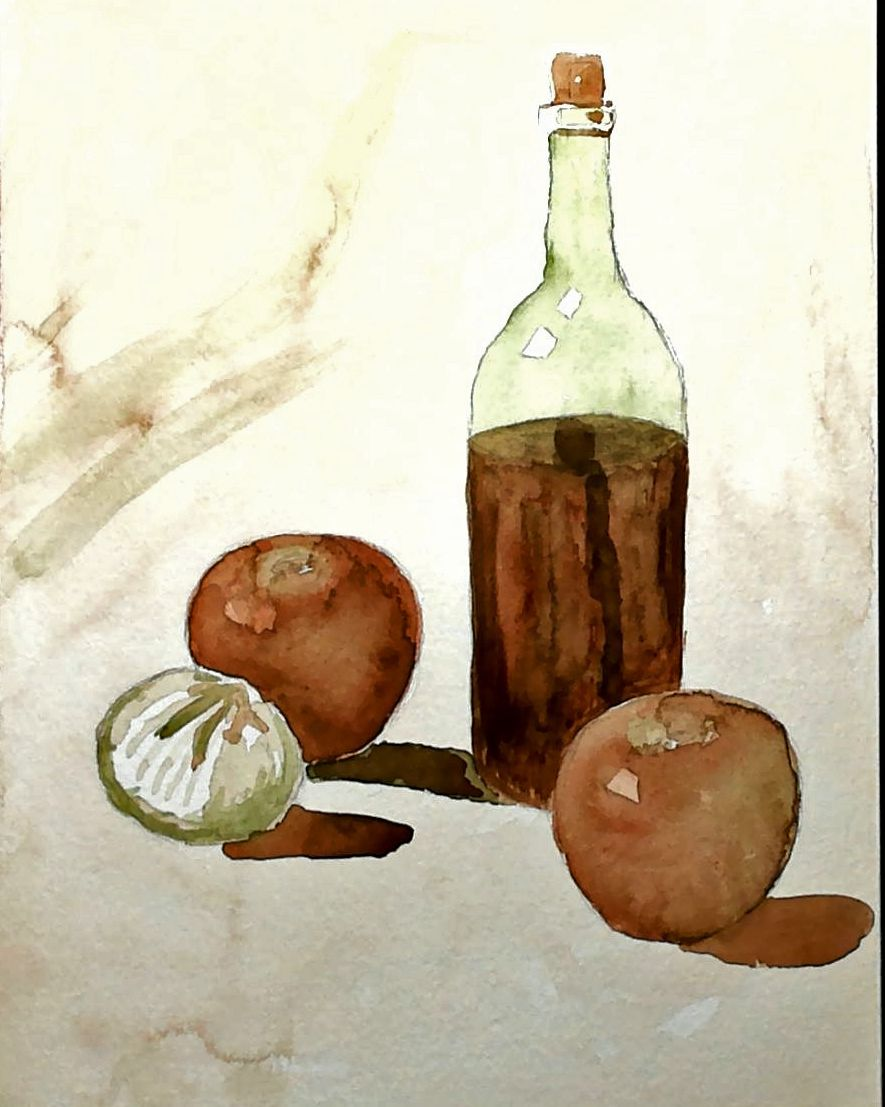 Watercolor Painting Still Life 8 X 10 Painting Objects In