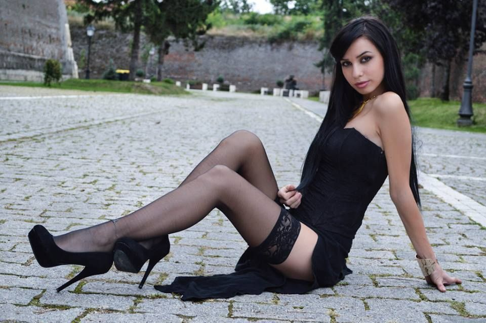 Speaking, advise Latina black stockings and high heels have removed