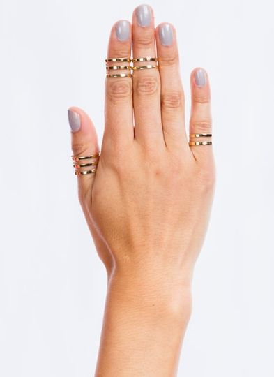 Banded Cut-Out Ring Set