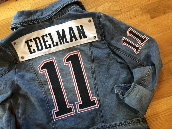 more photos 83c6a a7875 SAMPLE Custom PATRIOTS JERSEY Jean Jacket - one of a kind ...