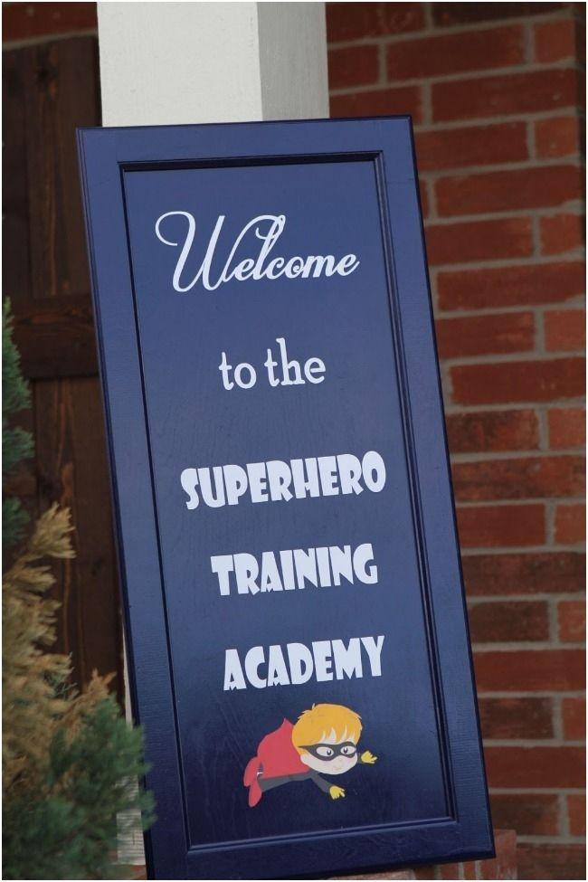 Superhero Training Academy 4th Birthday Party Ideas - Spaceships and Laser Beams www.spaceshipsandlaserbeams.com