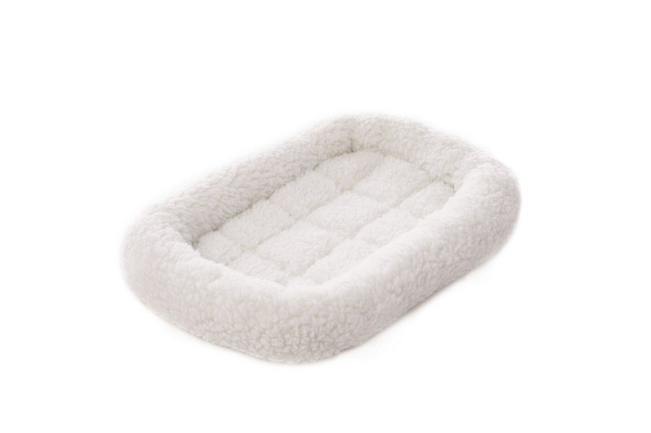 Frisco Quilted Fleece Pet Bed & Crate Mat, Ivory, 18-inch - Chewy.com