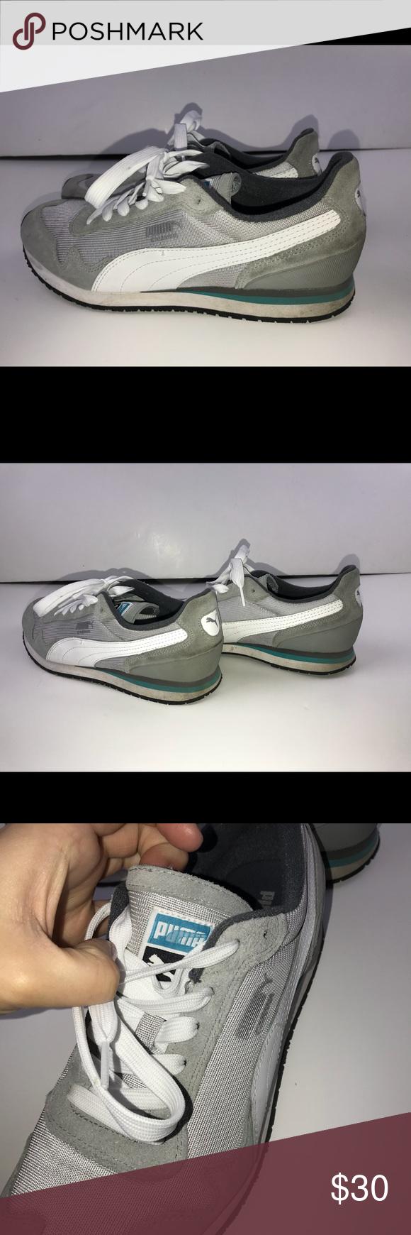 50dfe003751a4d PUMA Eco Ortholite Sz 8 tennis Shoes Comfy Gray EUC PUMA Eco Ortholite  Womens Sz 8 Sneakers tennis Shoes Comfy Gray blue NICE! smoke-free pet free  home KS4 ...