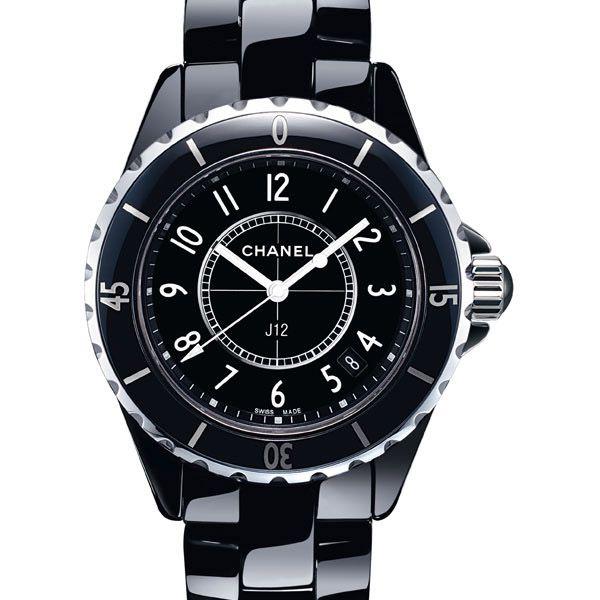 la cote des montres prix du neuf et tarif de la montre chanel j12 j12 noire h0682 3950. Black Bedroom Furniture Sets. Home Design Ideas