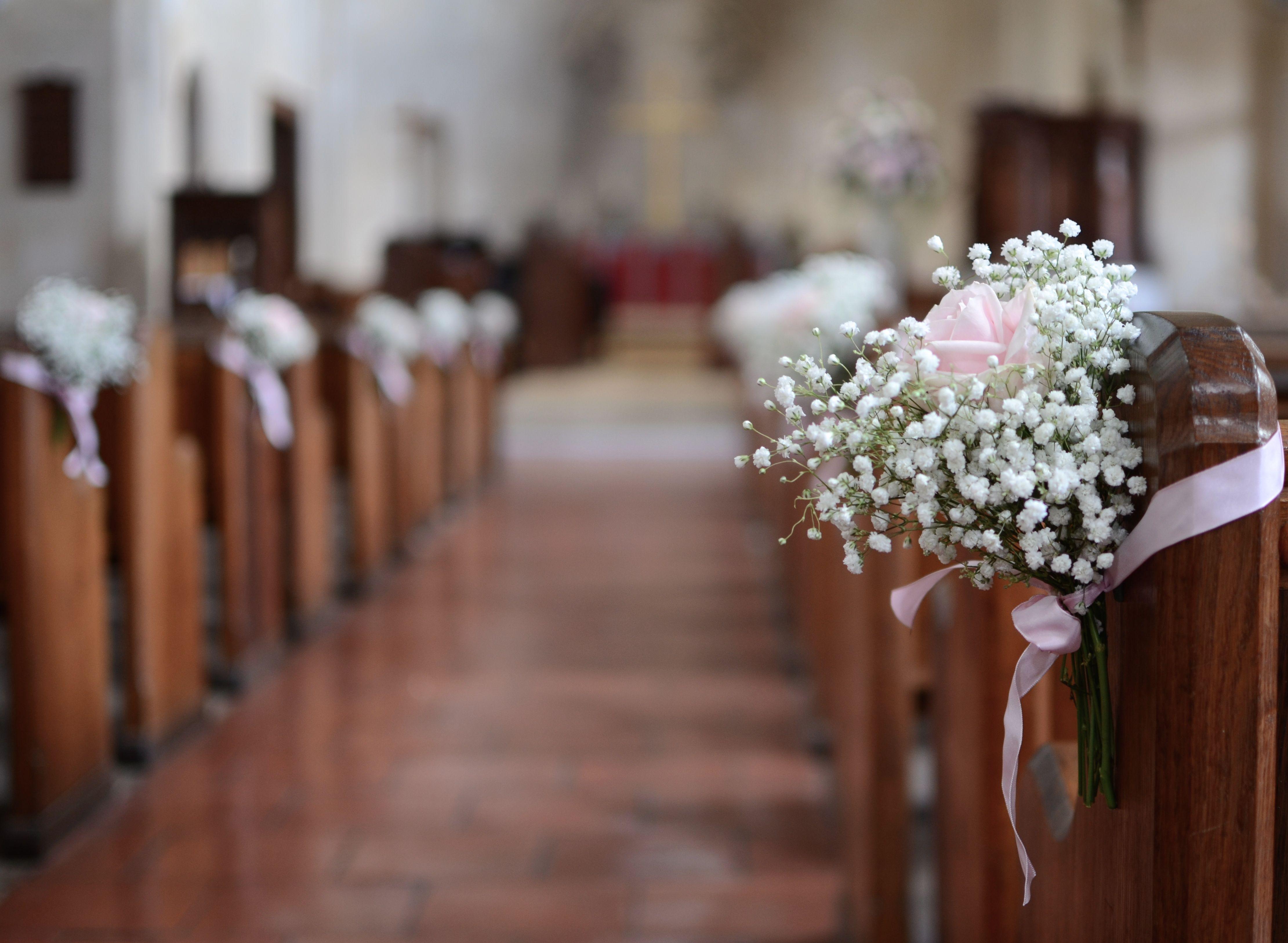 Pew Alternative To Jam Jars Church Pew Wedding Decorations