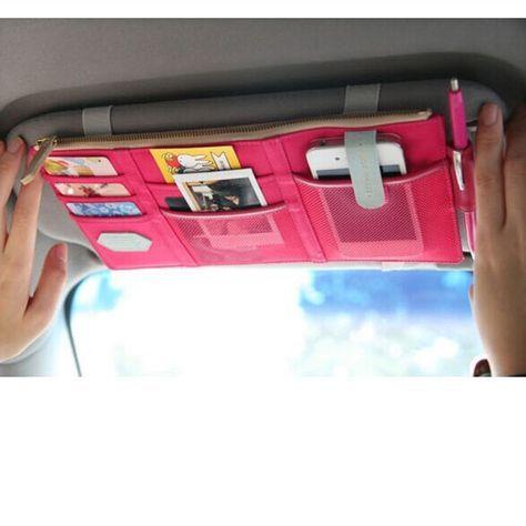 Car Sun Visor Organizer – Pink