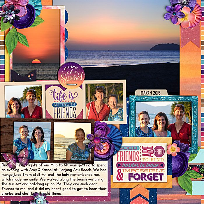 Layered Cards: Friendship by Cindy Schneider Hot Summer Nights by Kristin Cronin-Barrow Half Pack 156: Page Fillers 13 by Cindy Schneider ·