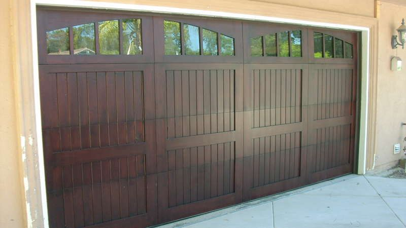 Wood Double Garage Door