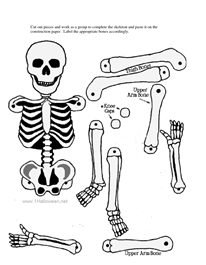 image relating to Skeleton Cut Out Printable identified as Skeleton minimize-out Halloween Skeleton craft, Halloween