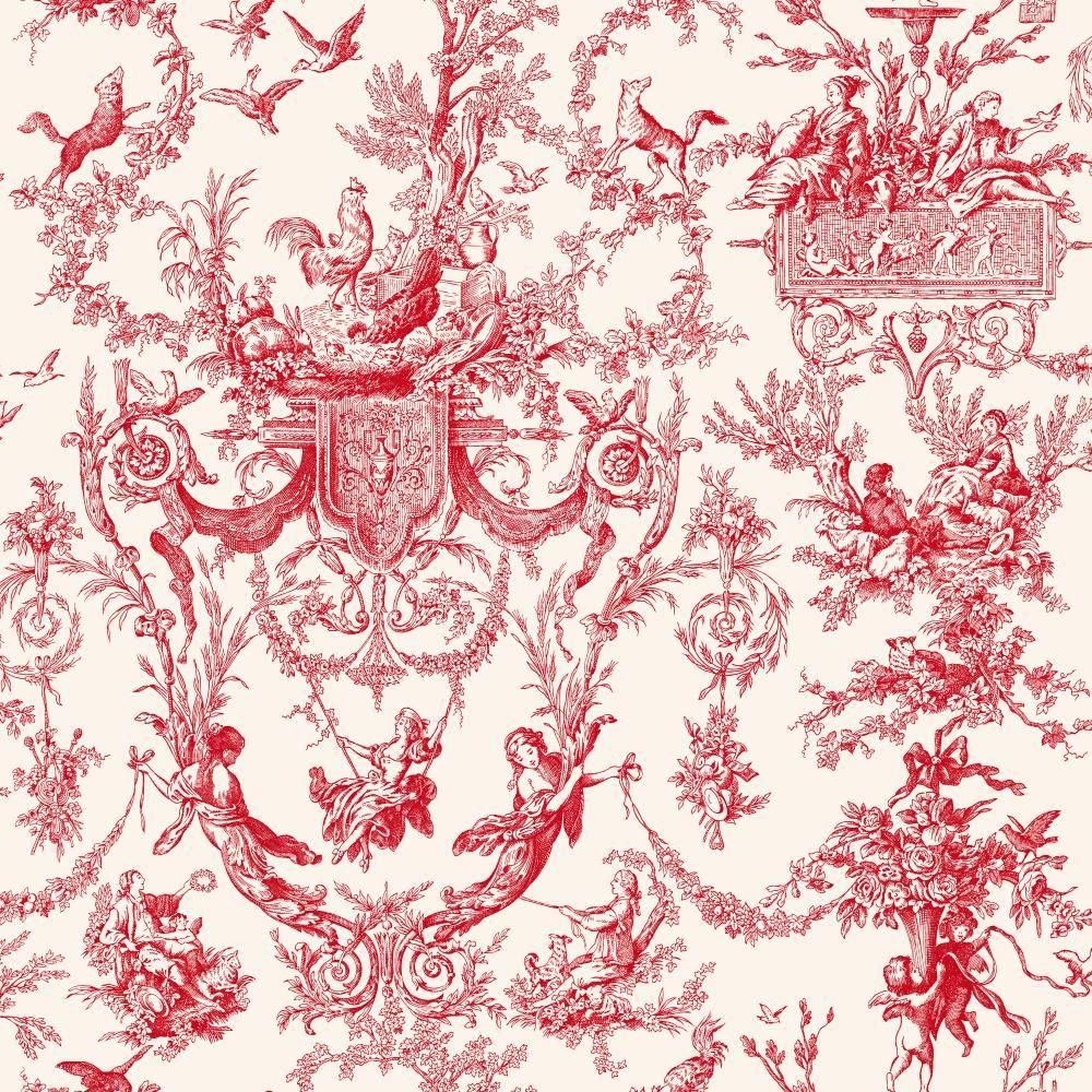 Pink hallway wallpaper  York Wallcoverings Old World Toile Wallpaper  Toile wallpaper and