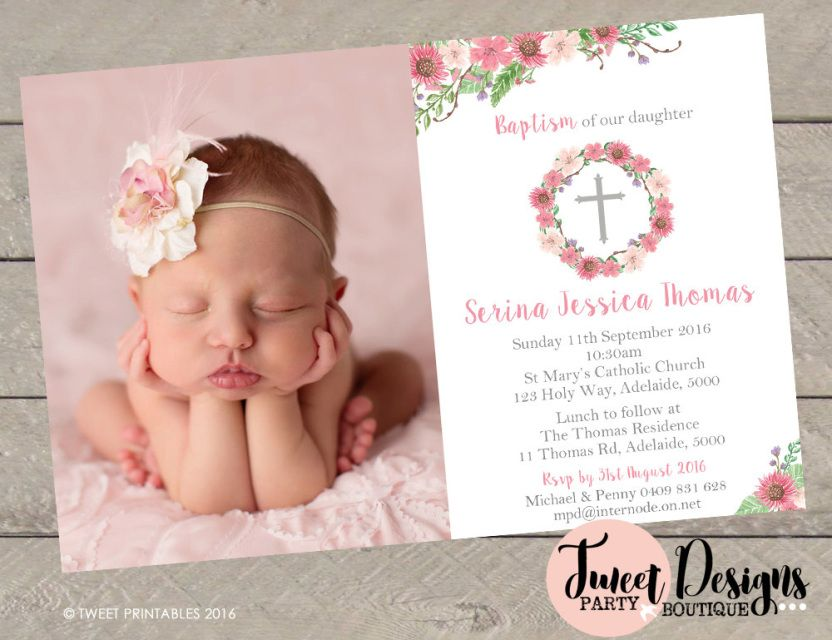 Christening Invitations, Instant Download Invitations, Baby Shower ...