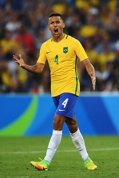 Marquinhos Of Brazil Celebrates As Brazil Win The Men S Football Final Between National Football Teams National Football Football Final