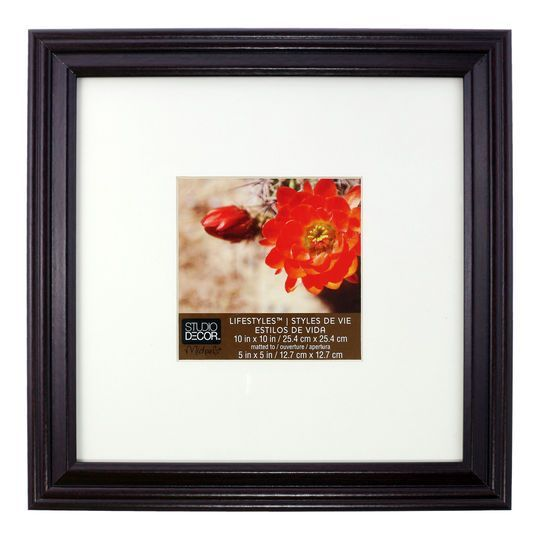 Cherry Black Frame By Studio Decor This One Is 10 X10 And The Mat Is 5 X5 So It Would Work For Those 6 Ti White Square Frame Studio Decor Frame