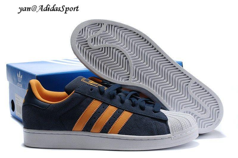 premium selection e3c20 29afb Adidas Originals Superstar 2 Hombres Suede Zapatos Azul MarinoNaranjaBlanco  Madrid Tienda Online