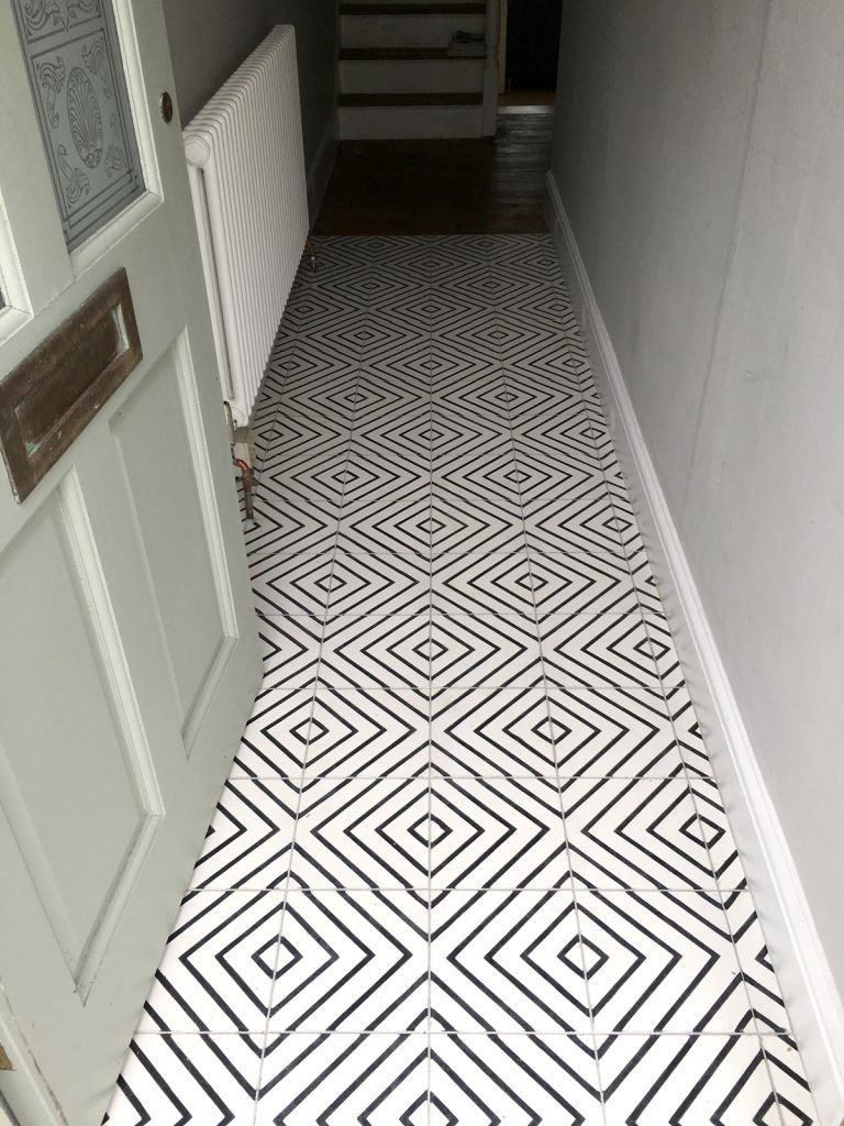 The Best Modern Encaustic Tiles On Everyone's Wishlist In 2018 is part of Encaustic tiles bathroom, Stenciled tile floor, Encaustic tile, White bathroom tiles, Painting tile floors, Encaustic tiles floor - Encaustic tiles might have been around since the nineteenth century, but they're coming back in a big way and are taking the hottest homes by storm