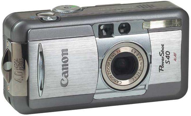 Canon Powershot S40 Powershot Digital Camera Canon Powershot