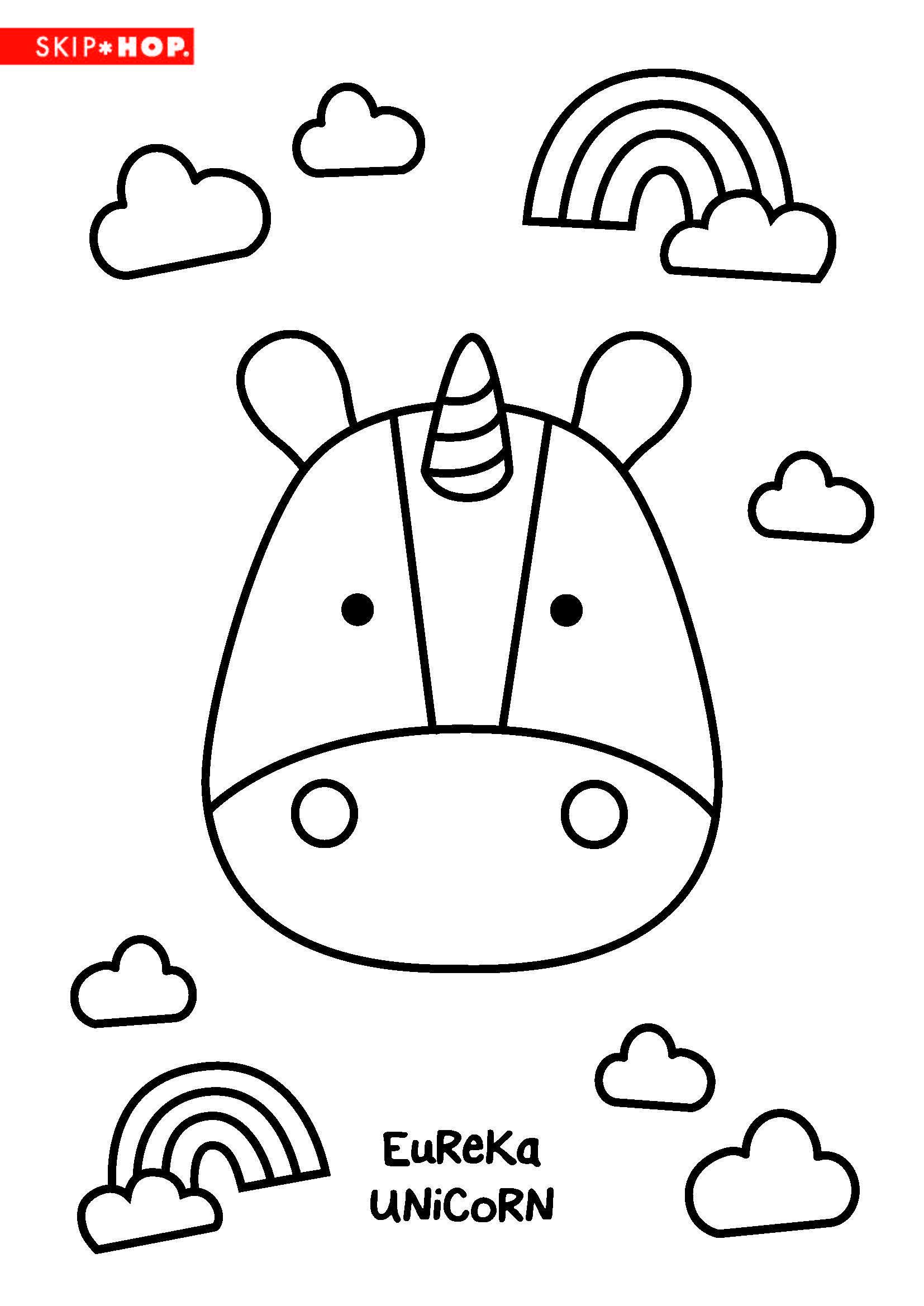 Eureka Unicorn Coloring Sheet Kids Coloring Books Kids Craft Gifts Kids Coloring Book