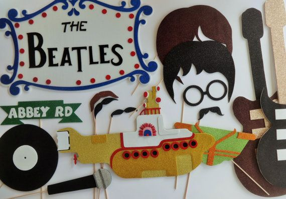 Beatles  Rock Band Yellow submarine Photo Booth Props by PICWRAP