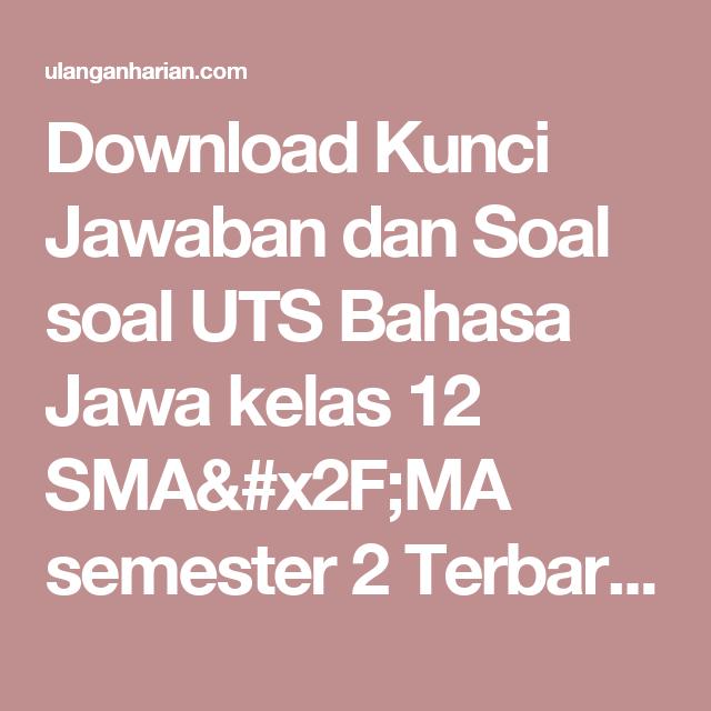 Jawaban Buku Paket Bahasa Jawa Kelas 7 Semester 1 Halaman 21
