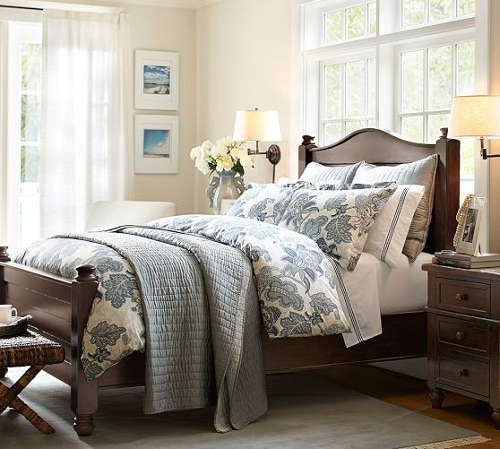 Silk Channel Two-Toned Shams | Barn bedrooms, Small master ...