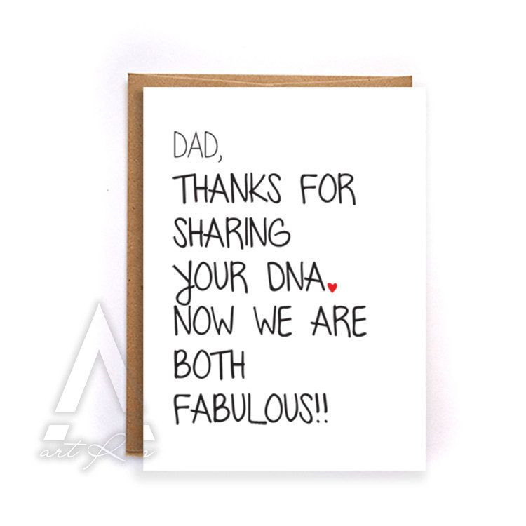 Dad Birthday Card Funny Fathers Day Card From Daughter Happy