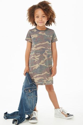 cc654eb0b8b82 Girls Camo T-Shirt Dress (Kids) in 2019 | Colette Fashion | Camo t ...
