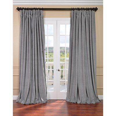 Exclusive Fabrics Furnishing Curtains Drape Vpch Vet121exclusive Signature Doublewide Blackout Velvet Curtain
