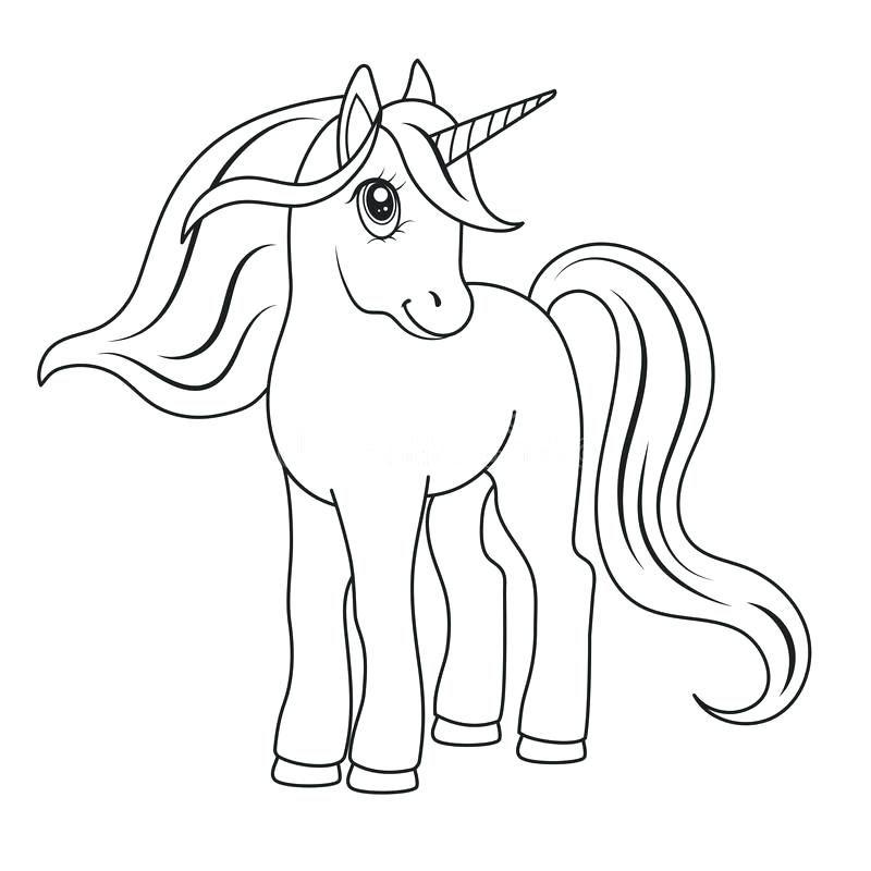 Lindo Unicornio Para Colorear Para Para Unicornios Lindos
