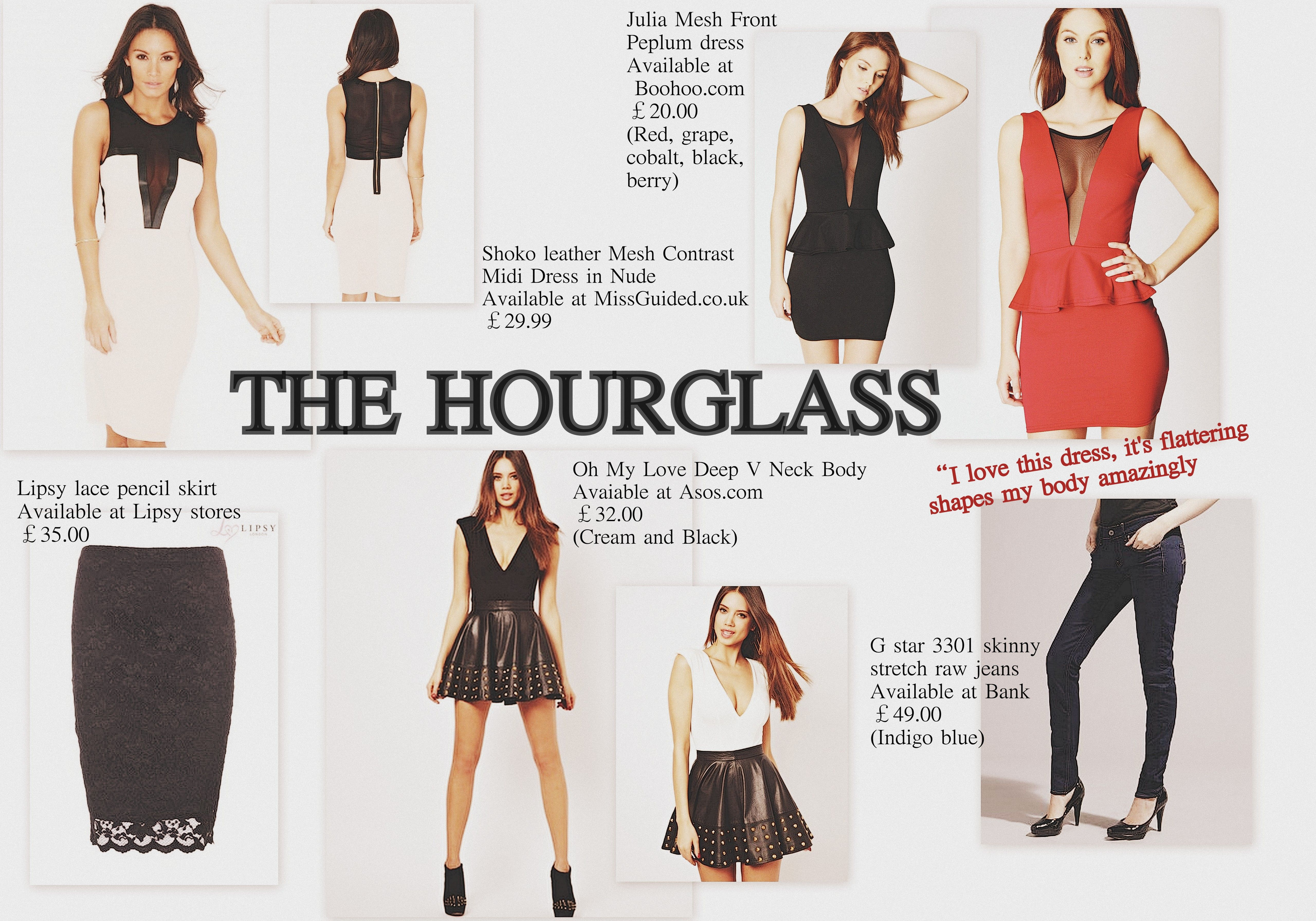 Hourgl Shape Finding The Fit Figure Outfits Dress Fashion