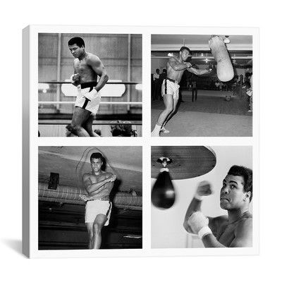 You'll love the Muhammad Ali Practicing on Punching Bag Photographic Print on Canvas at Wayfair - Great Deals on all Décor  products with Free Shipping on most stuff, even the big stuff.