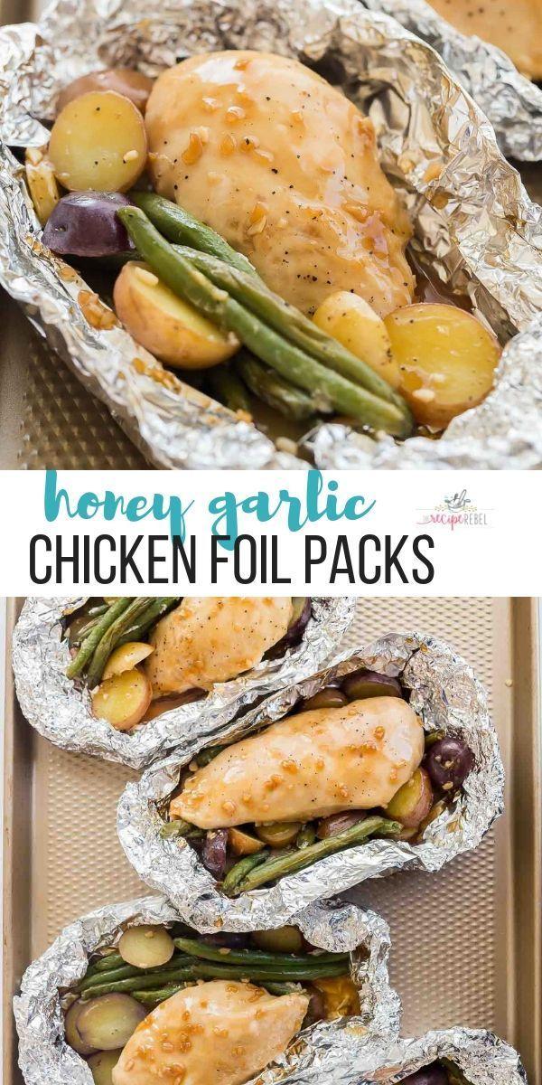 Photo of Honey Garlic Chicken Foil Packets {VIDEO} – The Recipe Rebel