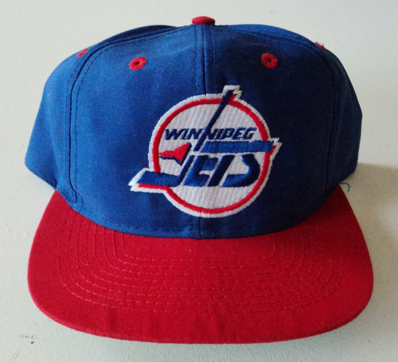 0cd6661ca1041 Vintage Winnipeg Jets Logo 7 Snapback Hat NHL VTG by StreetwearAndVintage  on Etsy