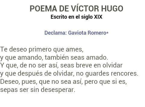 Poema De Victor Hugo Poemas De Victor Hugo Poemas Y Te