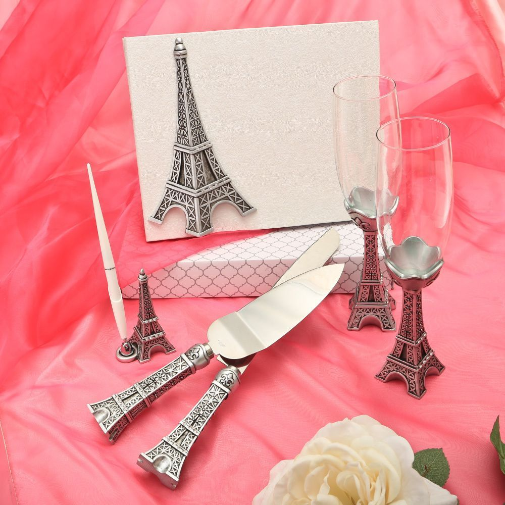 Eiffel Tower Theme Wedding Accessory Set | Romantic Wedding ...