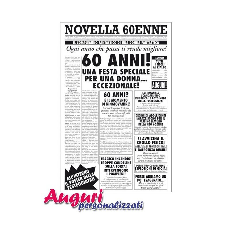 Biglietto Auguri Giornale Compleanno 60 Anni Amica Auguri