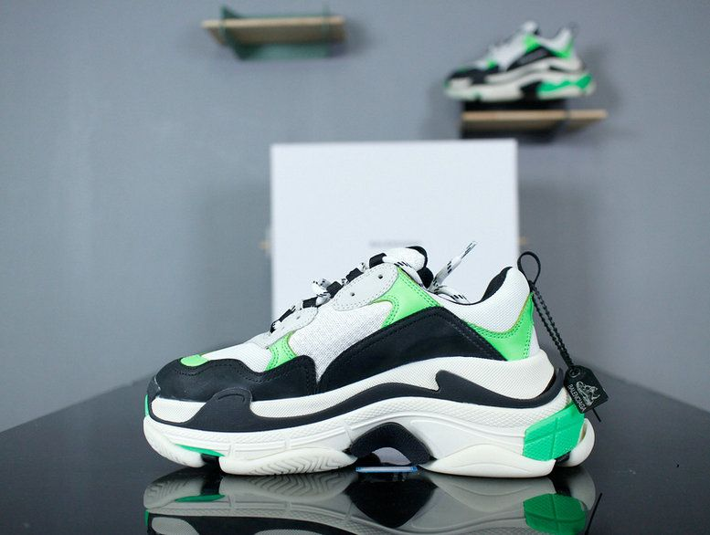 best service 5e6cd 3dc60 2018 Purchase Balenciaga Triple S Mr Porter Neon Green 2018 White Black- Green