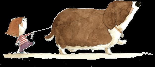 Picture Of Kid Walking Dog By Agocs Irisz Illustrators Dog Illustration Easy Drawings