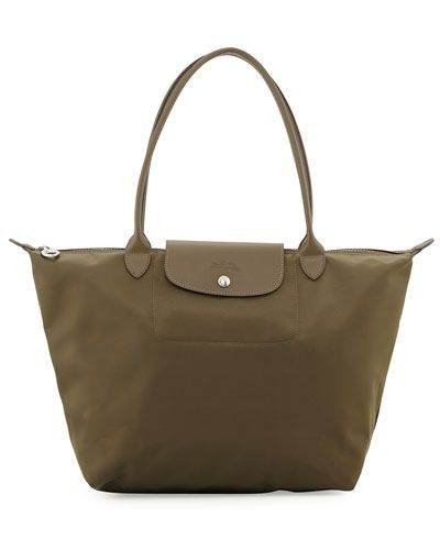 99ad7b92c3c0 Le Pliage Neo Large Nylon Shoulder Tote Bag, Khaki | *Neiman Marcus ...
