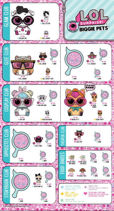 Lol Surprise Biggie Pets Guide Pet Babies And More Lotta Lol Lol Dolls Baby Girl Toys Kids Printable Coloring Pages