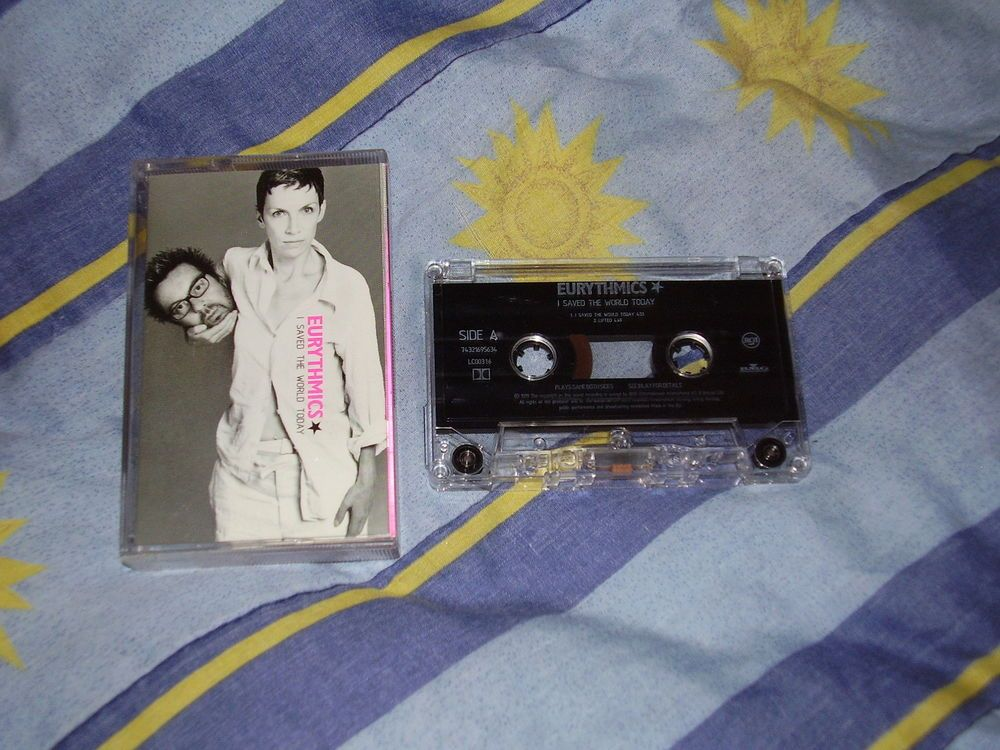 Eurythmics I saved the world today Cassette Tape